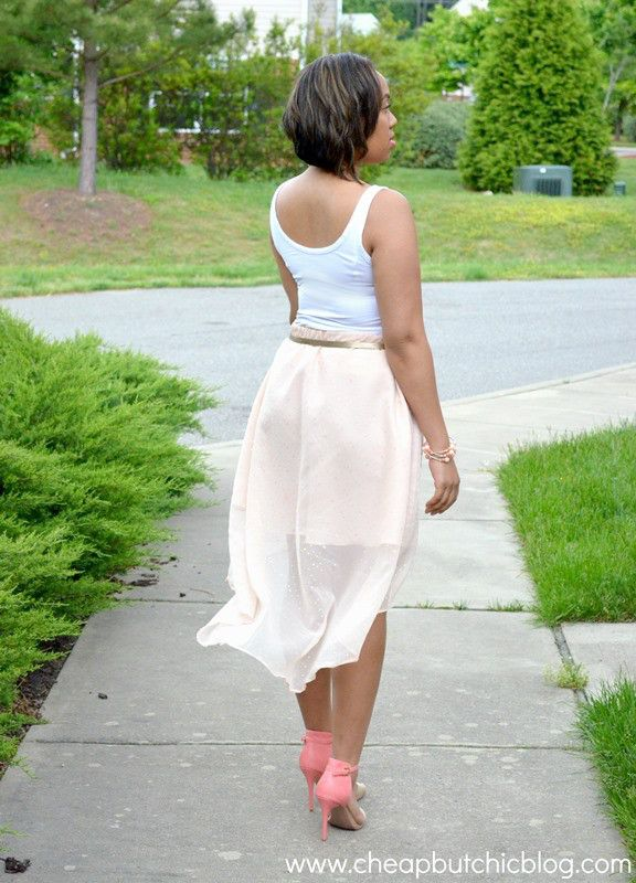 DIY Chiffon High-Low Skirt