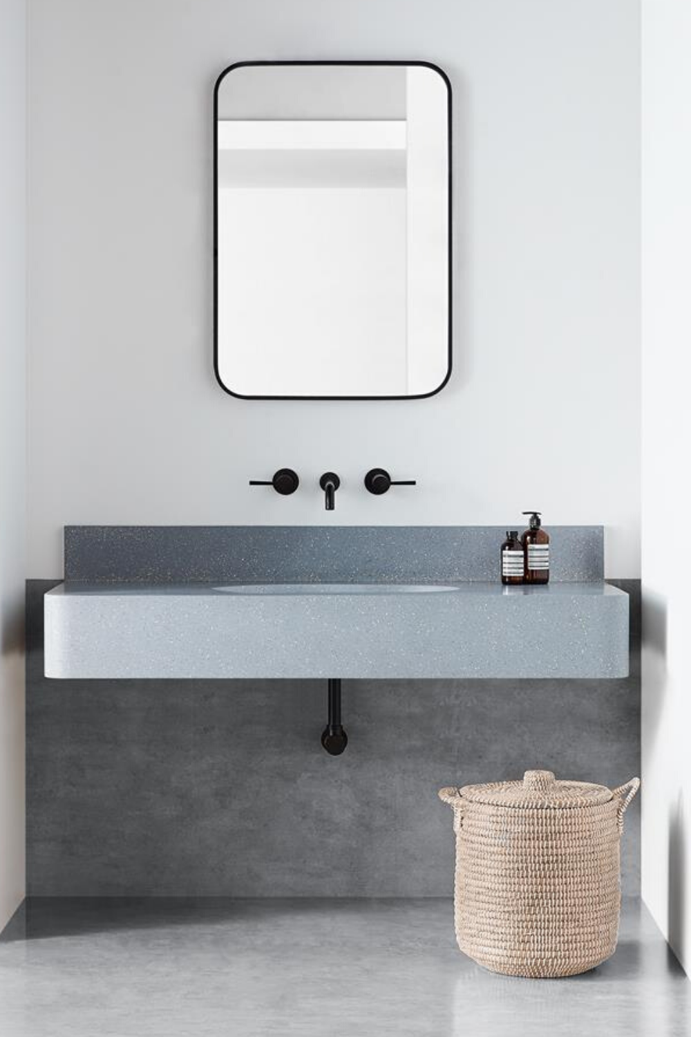 A beautiful Terrazzo bathroom finish for your counters ...