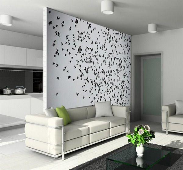 Dekorierte Wände Wohnzimmer   Terrassenmöbel
