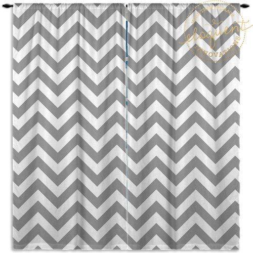 White and Grey Curtains - Chevron - Grey and Whtie Curtain - Custom Window…