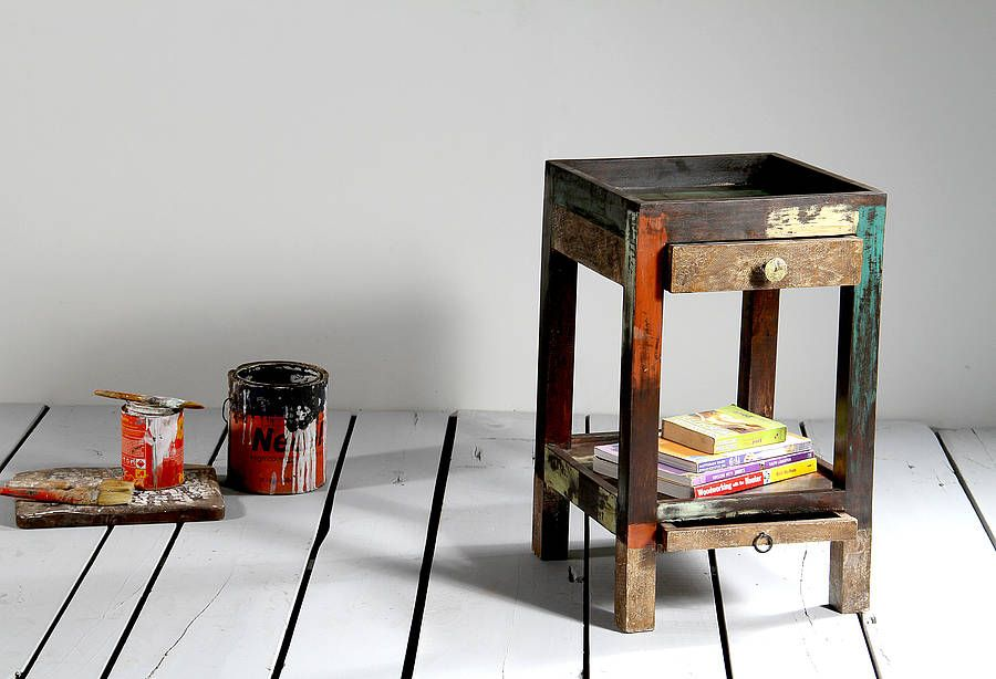 mary rose upcycled side table by little tree furniture