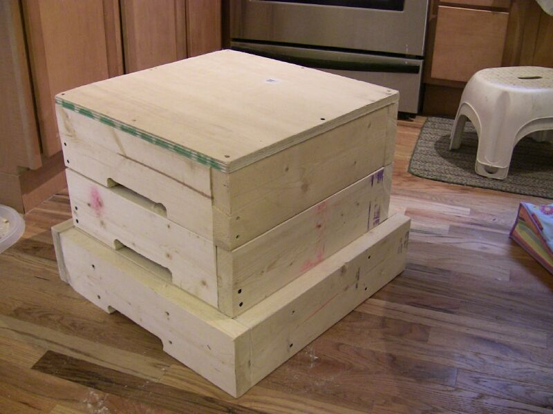 Plyo Box Plans How To Make Stacking Plyometric Boxes By