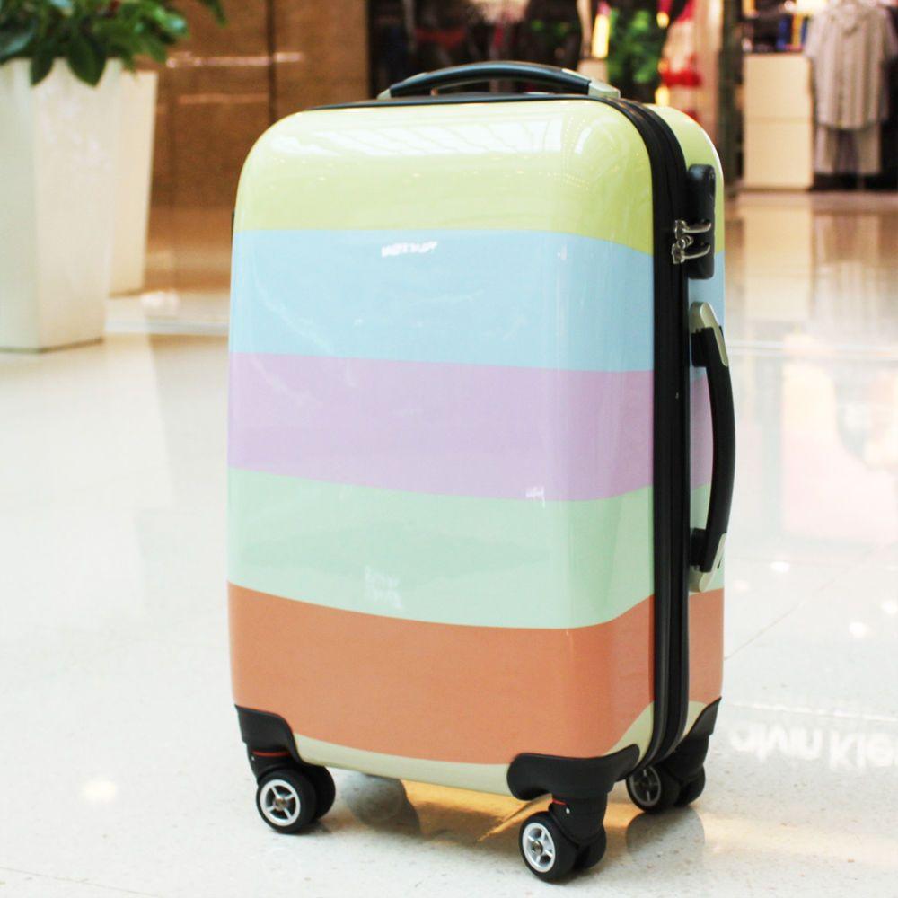 Expandabe Luggage Suitcase Diamond Pattern Hard Trolley Bag ...