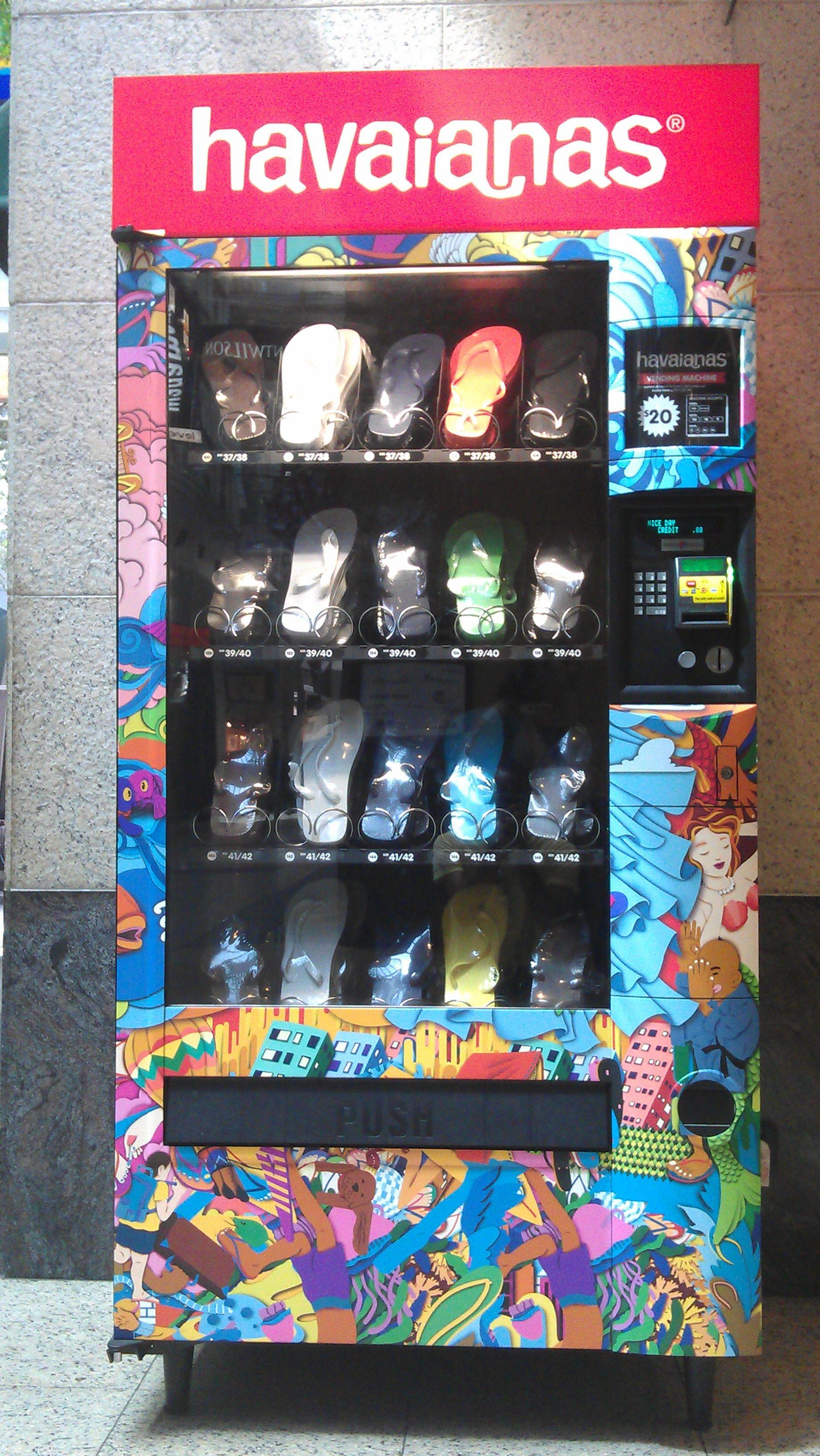 Hair accessories vending machines - Havaianas Vending Machine In Australia I Wanna Go There So Bad
