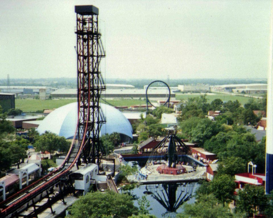 The Sky Screamer Houston S Astroworld This Was My Favorite Astroworld Houston Historic Houston Theme Park