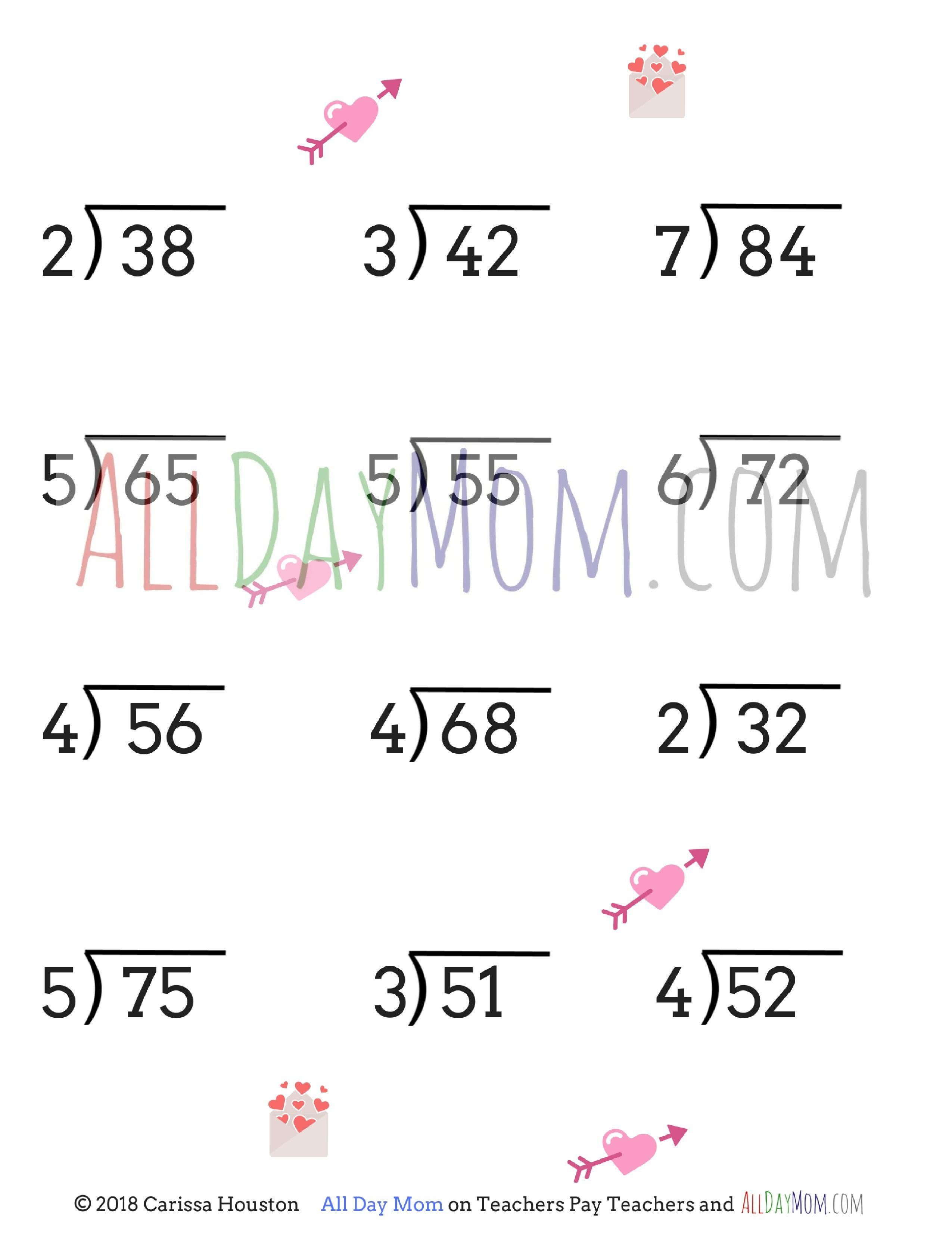Free Printable Math Worksheets For 3rd Grade Division In