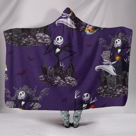 Cool Nightmare Before Christmas Gifts: Nightmare Before Christmas Jack Skellington Hooded Blanket