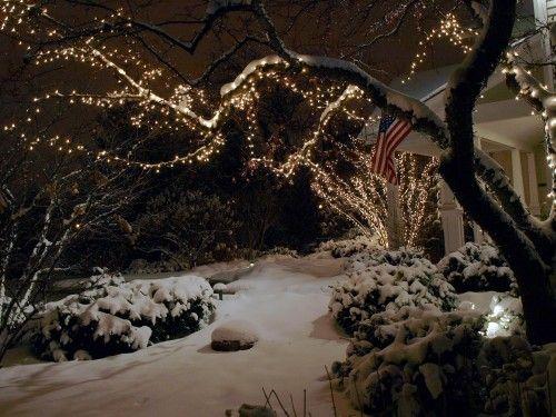 A true winter wonderland, love this Outside Pinterest White