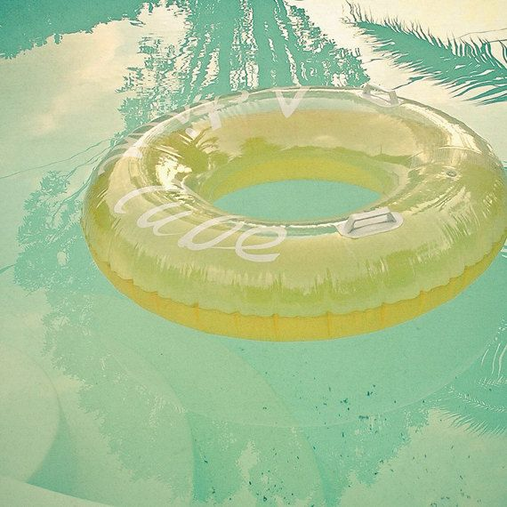 FREE SHIPPING Inviting - Swimming pool art, water photography, mint ...