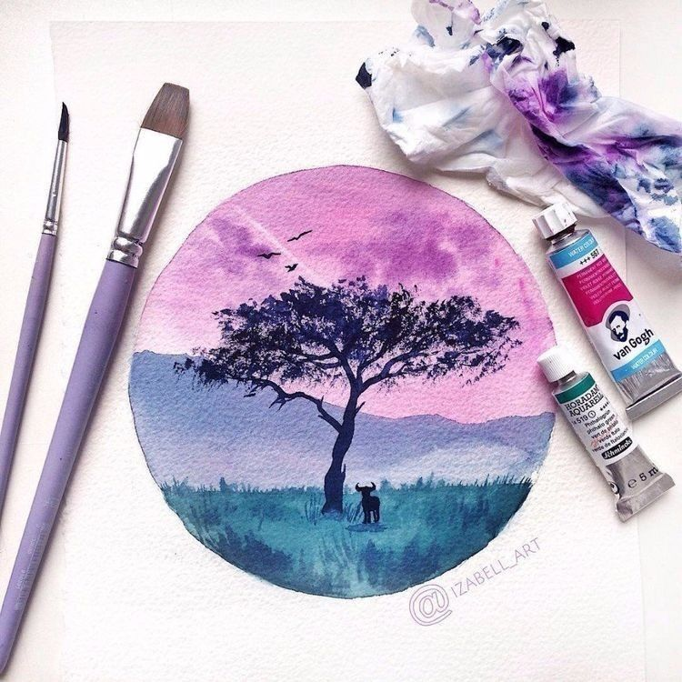 Pin By Leillly On Drawing With Images Watercolor Art Diy