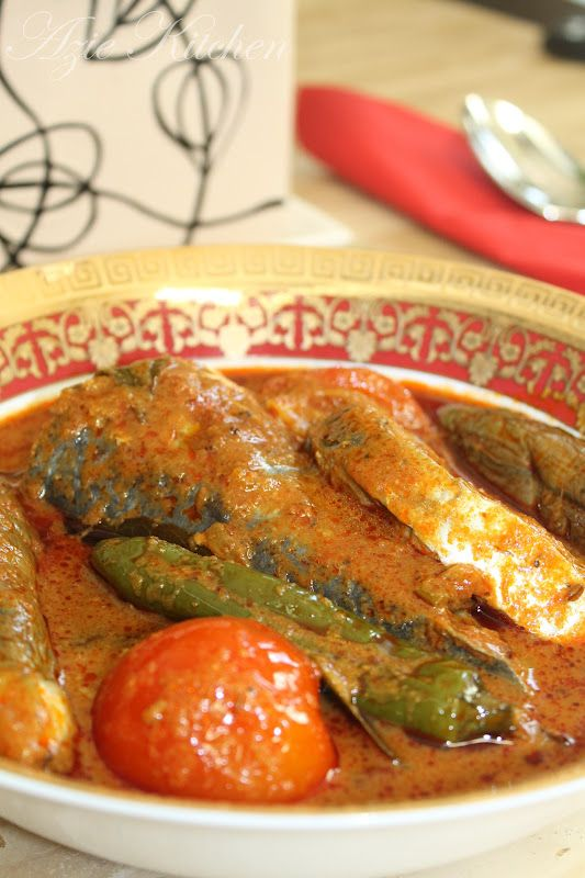 Azie Kitchen Kari Ikan Tenggiri Mamak Style