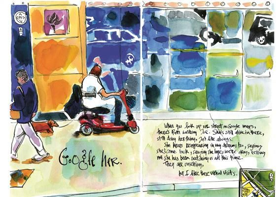 An Artist Wishes His Wife Farewell In Watercolor Danny Gregory