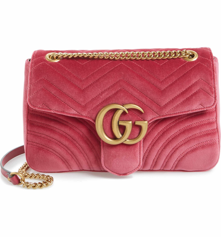 10c31446a880 Main Image - Gucci Medium GG Marmont 2.0 Matelassé Velvet Shoulder Bag