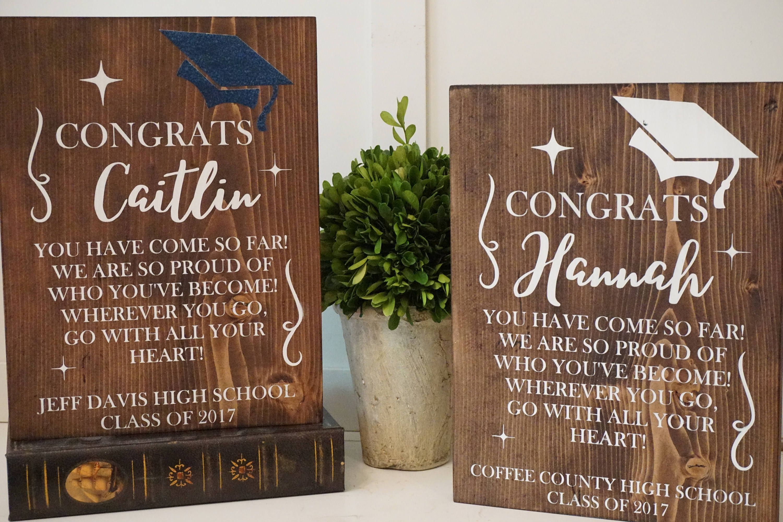 Graduation Plaque Class Of 2018 Graduation Gift Graduation Gift