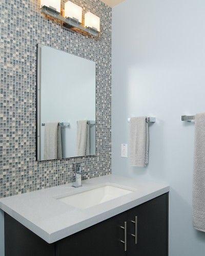 Modern Yet Simple Bathroom I Like The Feature Tiles  House Unique Mosaic Feature Tiles Bathroom Design Decoration