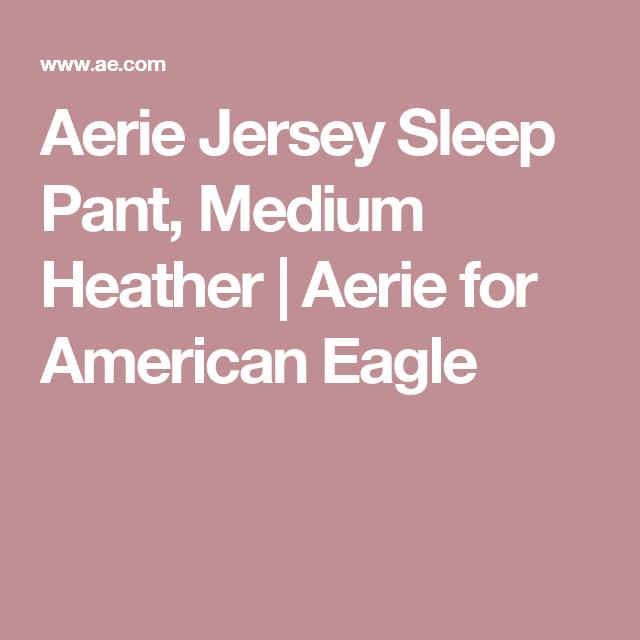 Aerie Jersey Sleep Pant, Medium Heather | Aerie for American Eagle