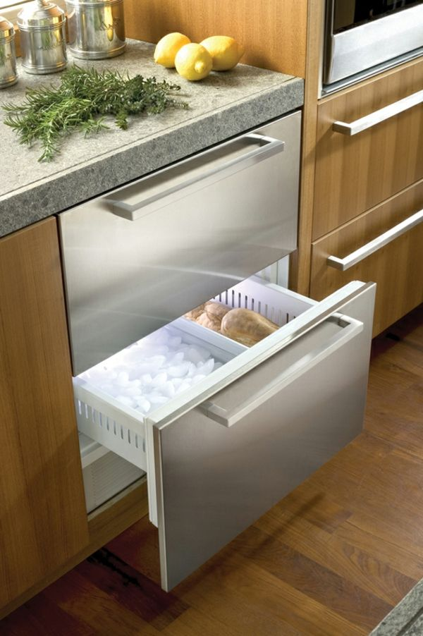 Kühlschrank-mit-Schubladen-Küchengestaltung-Wohnidee kitchen - k che sideboard mit arbeitsplatte