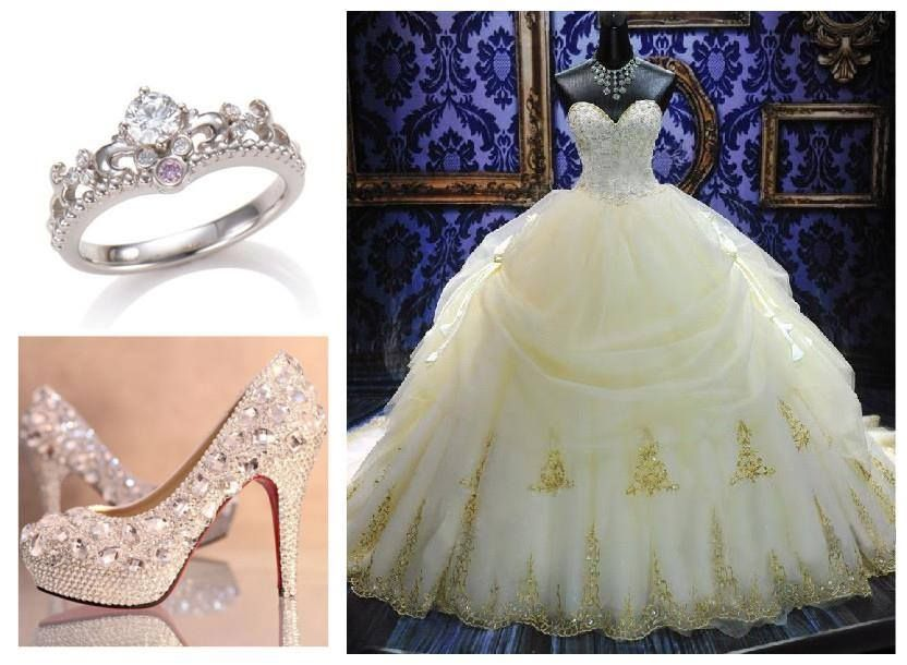 Image of: disney princess themed wedding dresses | Stuff ...