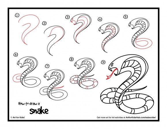 How To Draw A Snake Art For Kids Hub Art For Kids Hub Snake