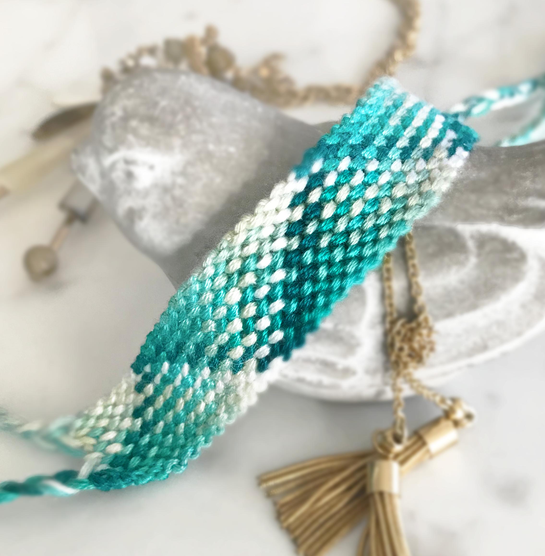 39d21779b3c04 Seascape Friendship Bracelet - DIY Kit | Products | Embroidery ...