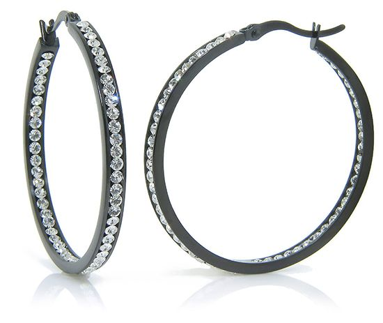 Crystal Hoop Earrings Http Groupon Deals Gg