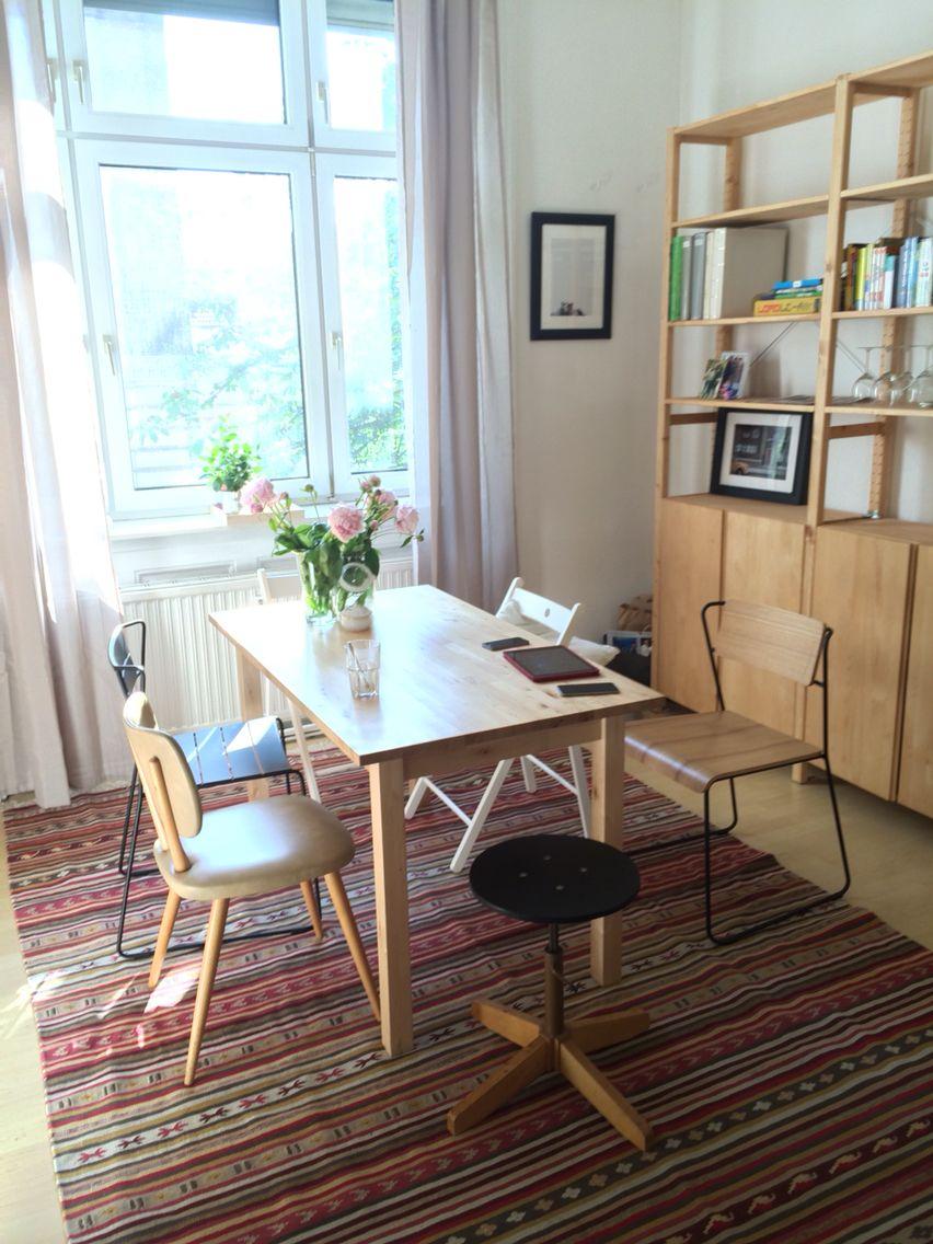 Dining room ikea kattrup rug ivar the philipe gailard for Esszimmer inspiration