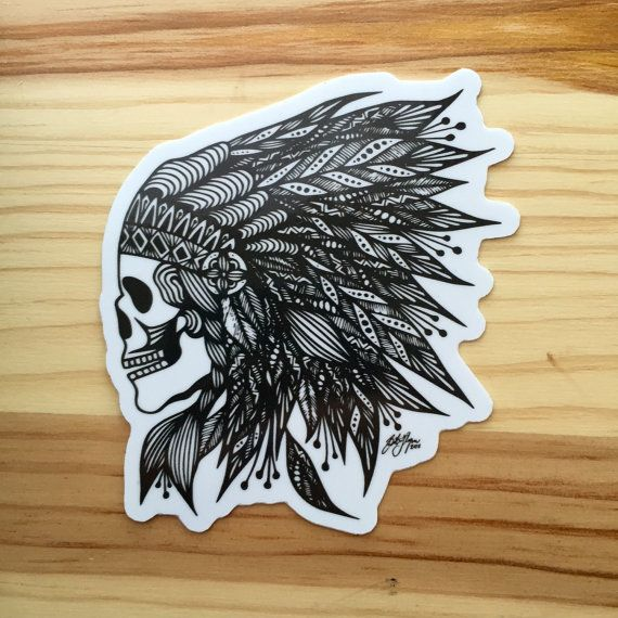 Zentangle feather skull sticker by zenspiredesigns on etsy artsy af pinterest zen tangles tangled and artsy