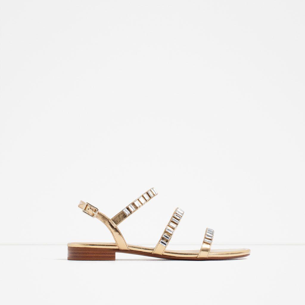 d589dfe5e83a1 GEM ENCRUSTED SLIDES Shoes Flats Sandals