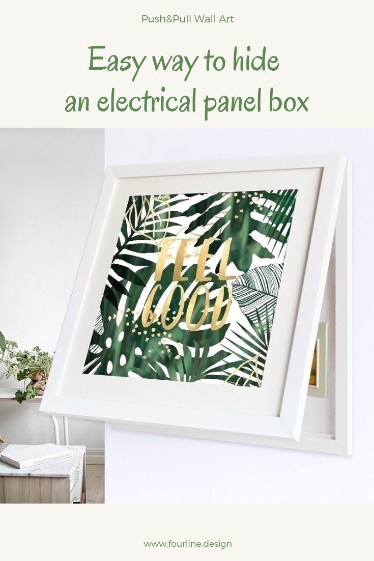 enjoy stylish wall art as the smartest solution to hide an electrical panel board in your [ 735 x 1102 Pixel ]