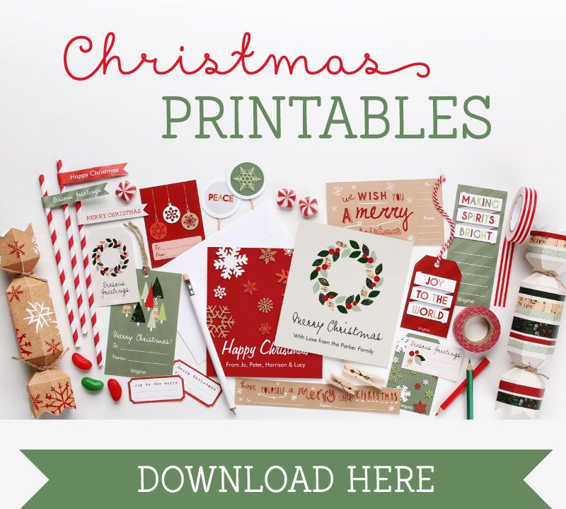 Get crafty this Christmas with our super fun, super cute range of free Christmas printables! Bon bons, gift tags, dessert toppers, garlands and more... simply download, print and create! Ho ho ho!