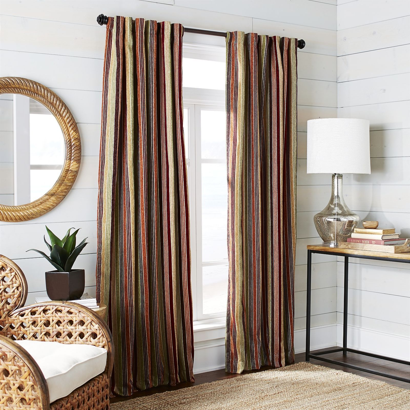 Alec Plush Striped Curtain - Warm | Pier 1 Imports | Home Updates ...