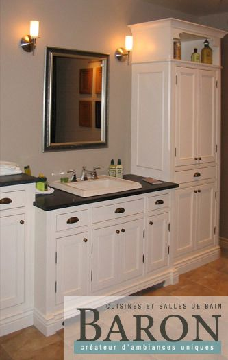 Salle De Bain Armoire Meuble Vanité Rénovation De Salle De - Renover meuble salle de bain