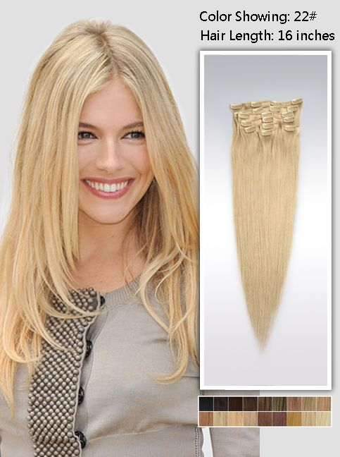 16 Inch Straight Blonde Hair Extensions 95g Uss2216 Look At
