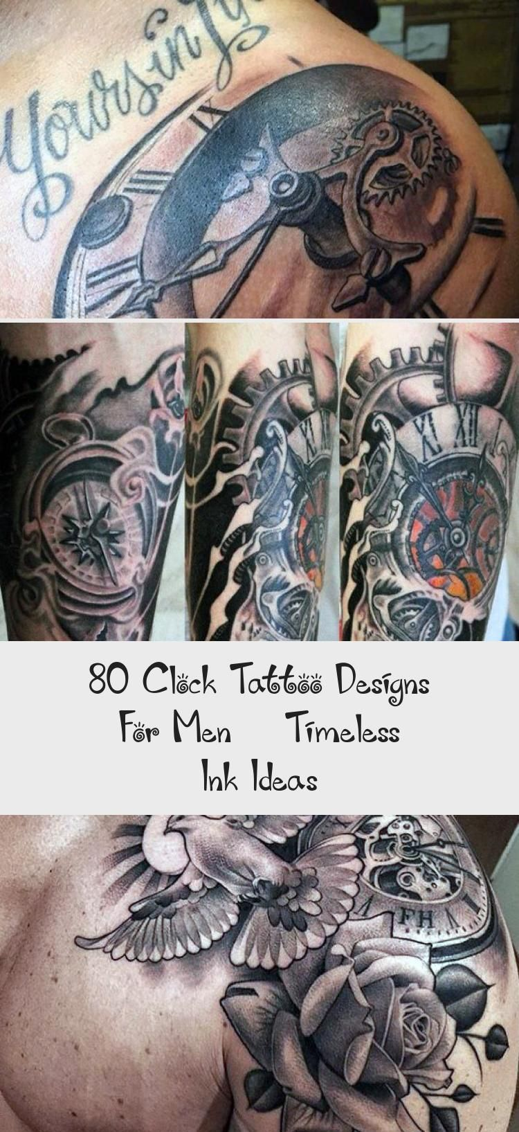 80 Clock Tattoo Designs For Men Timeless Ink Ideas in