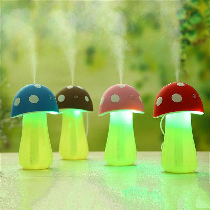 USB Mushroom Lamp Humidifier | Mushroom lamp, Night light