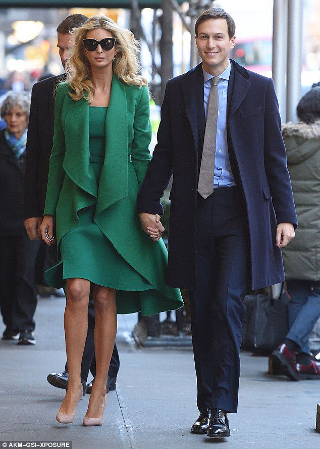 Ivanka Trump steps out with husband and kids ahead of inauguration  #dailymail