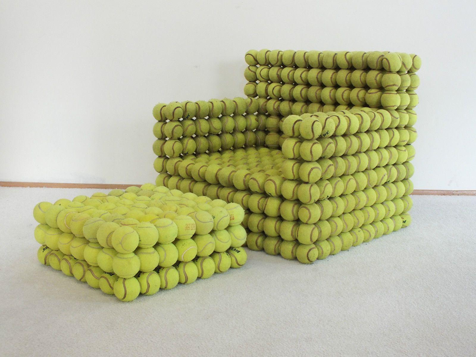 Designer Highlight Tennisball Chair Sessel Mit Hocker Rarität Einzelstück |  EBay