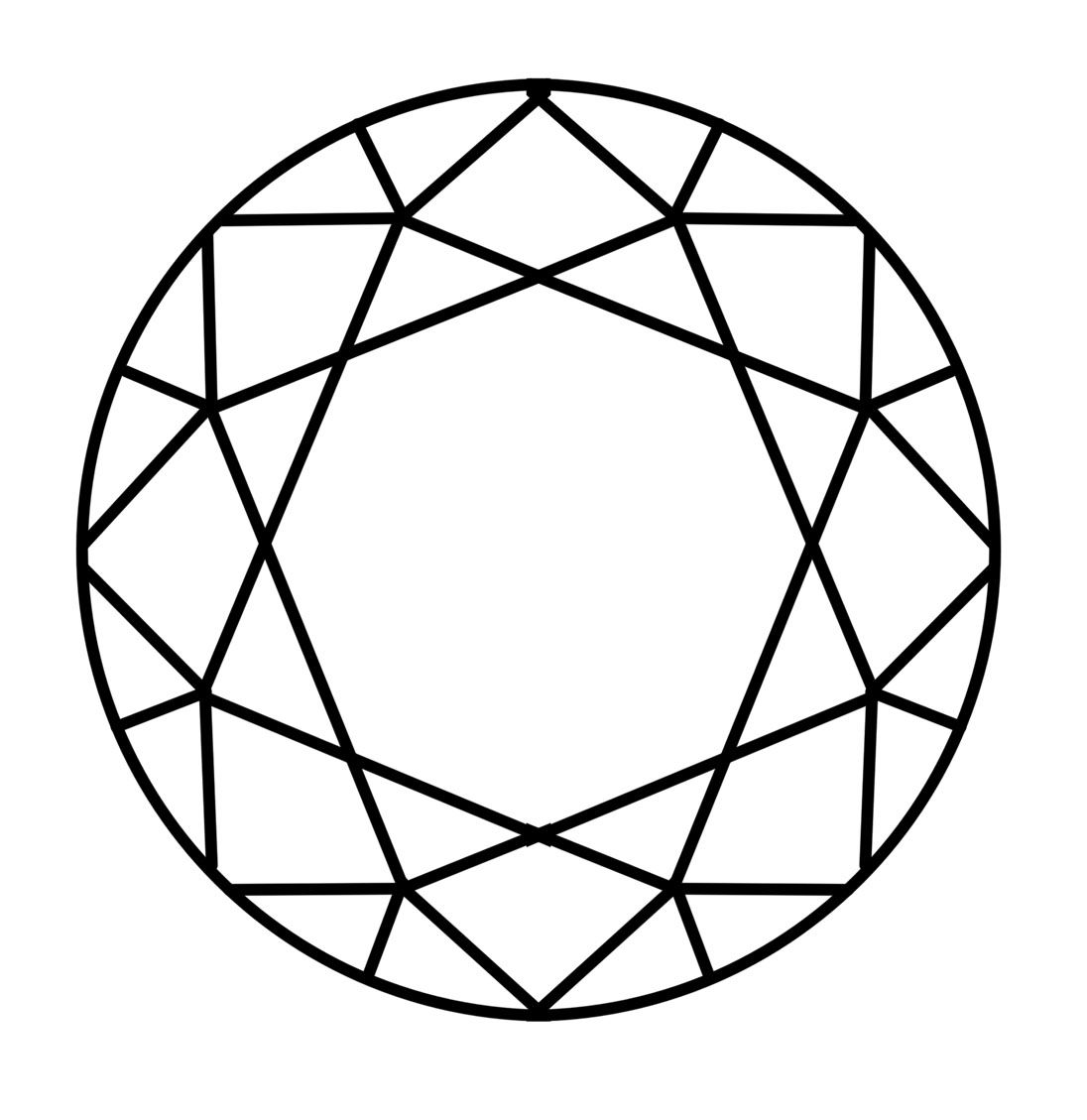 how to draw a 3d diamond