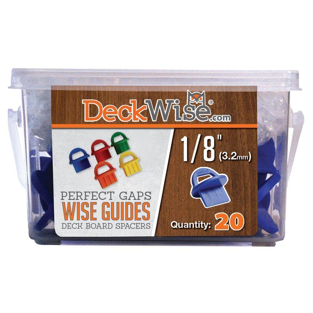 Deckwise Wiseguides 1 8 In Gap Deck Board Spacer For Hidden Deck Fasteners 20 Count Blue Purple Hidden Deck Fasteners Deck Hardwood Decking
