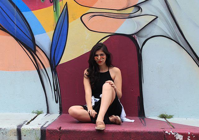 look vestido longo preto / maxi dress black / style / street @alayssouza www.tarolandoporai.com