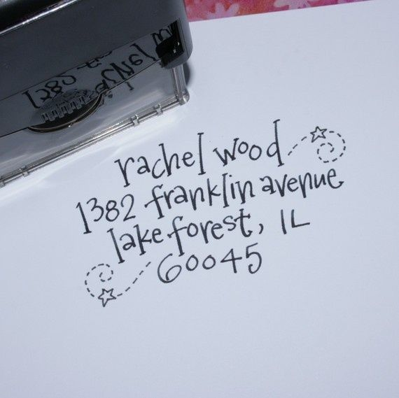 How cute is this? Hand-lettered return address stampu2026 DIY - envelope for resume
