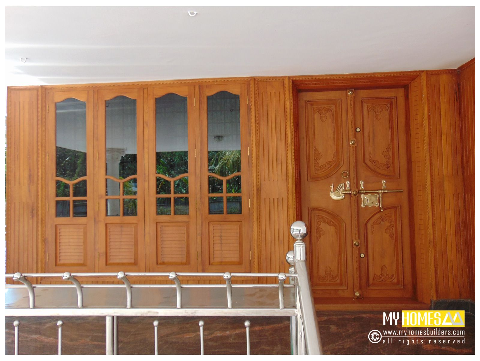 Home plan kerala style windows