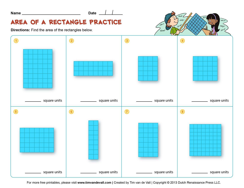 medium resolution of Area and Perimeter Worksheets - Third Grade Math Worksheets   Area  worksheets