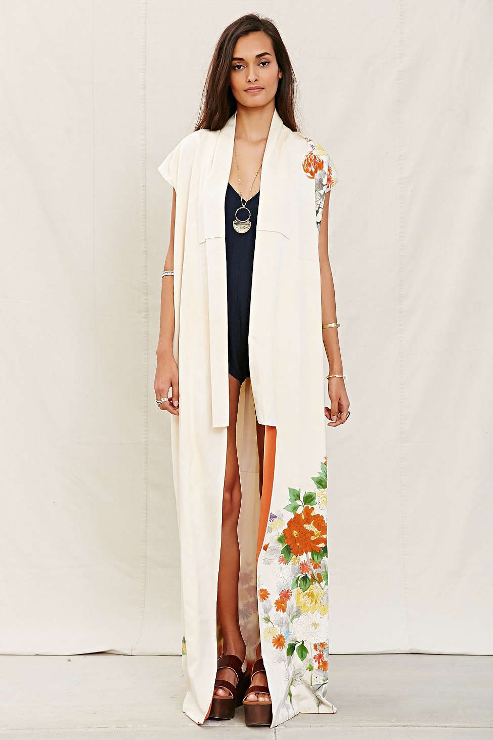 c0854aea0c80 Urban Renewal Recycled Sleeveless Kimono Jacket- Throw on over any outfit  as a finishing touch  stylesharescore