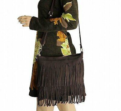 Photo of Italy Ladies Fringes Bag Leather Suede Shoulder Bag Handbag Crossover  | eBay