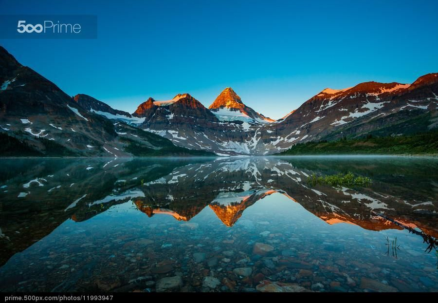 Mt Assiniboine - stock photo