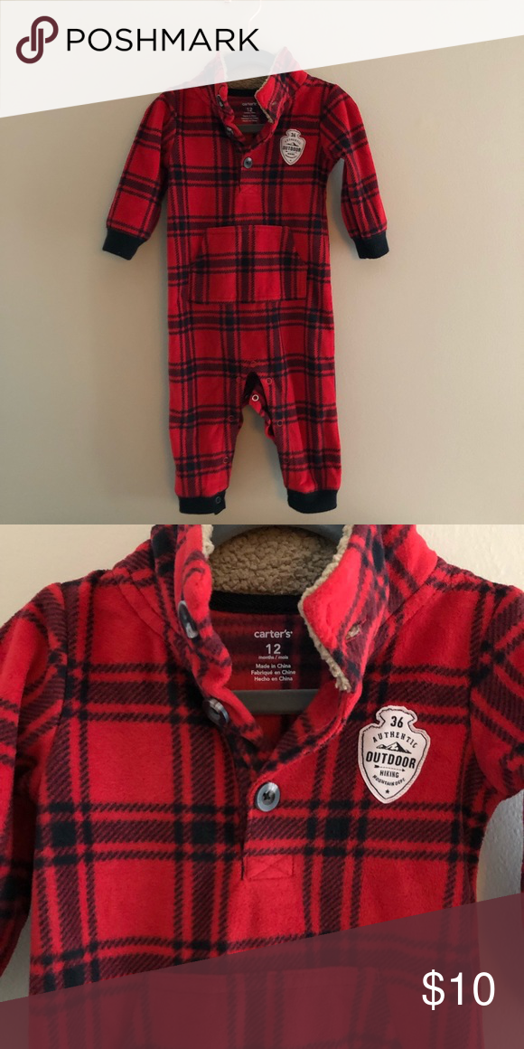 e9b7e0812 Carter s Plaid fleece jumpsuit in 2019