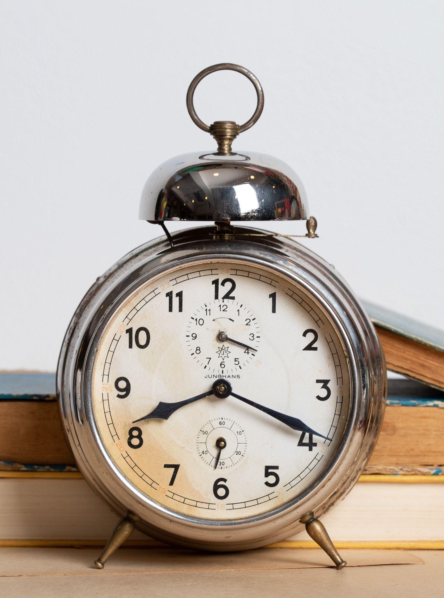 Antique Alarm Clock, German Desk Clock, Retro Tabletop ...