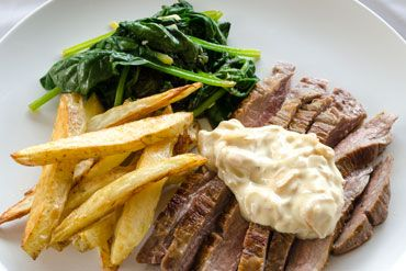 Steak Frites, Creamy Shallot Sauce and Sautéed Spinach with a hint of Garlic | You Plate It