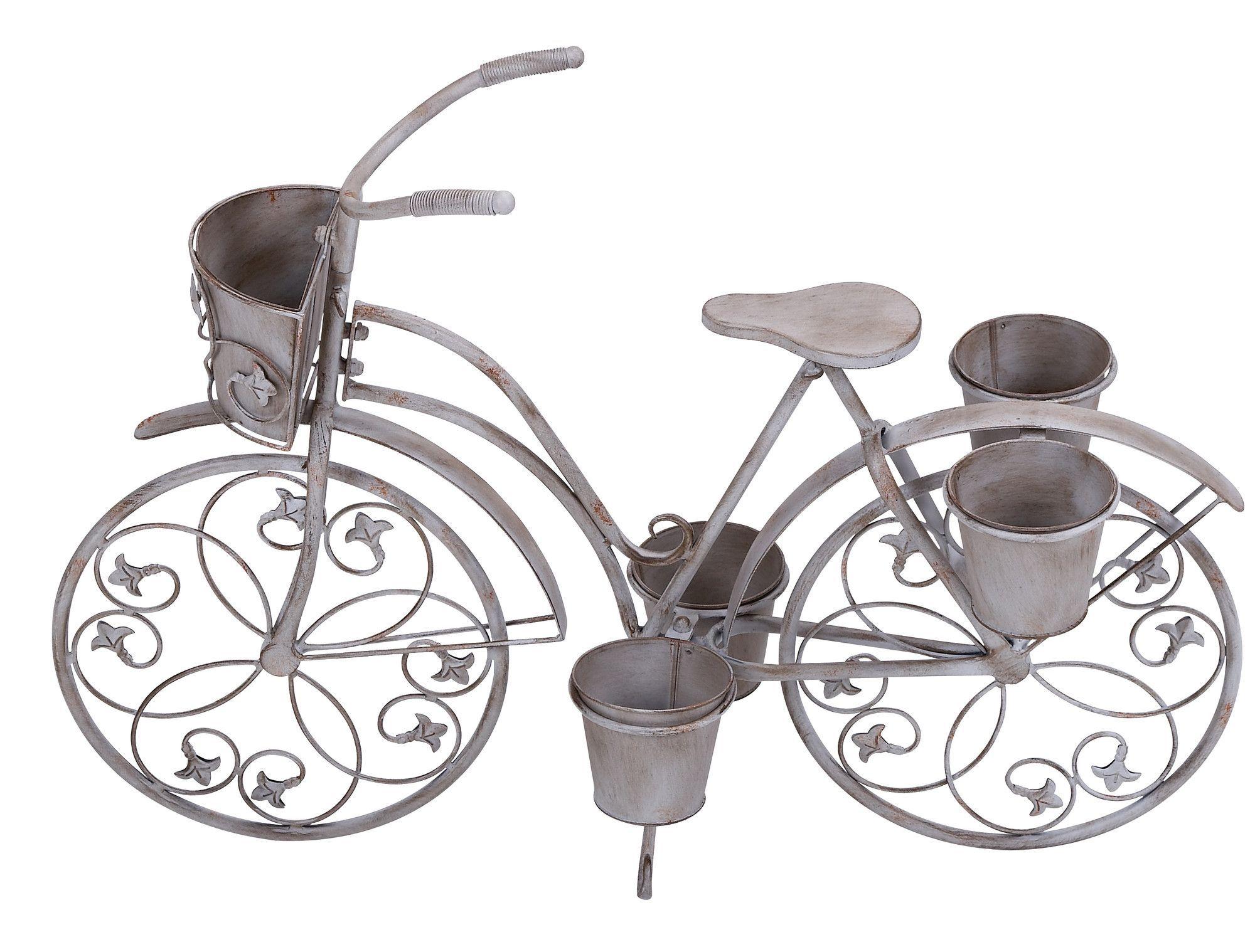 Metal Bicycle Planter